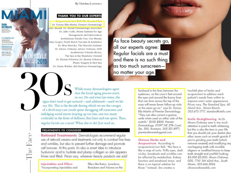 Donna Bilu Martin, MD discusses aging in your 20's, 30's, 40's and beyond in MIAMI Magazine